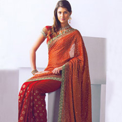 Zari Embroidered  Saree