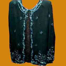 Black Beaded Unlined Jacket