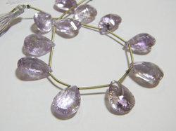 Pink+Amethyst+Concave+Cut+Pear+Briolettes