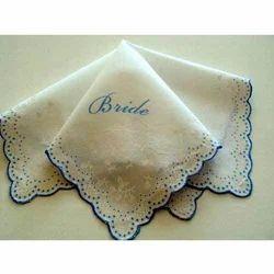 bride personalized handkerchiefs