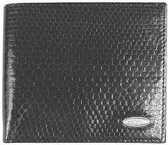 Snake Print Leather Wallet