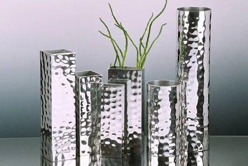 Flower Vases Handcrafted Recycled Aluminum Flower Vase Exporter