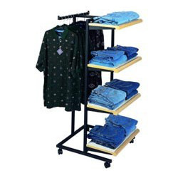 Retail Garment Shelving Solutions-Hanging Cum Shelving