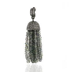 Multi Sapphire Gemstone Tassel Pendant