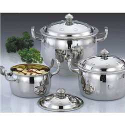 Steel Lid Pot Set