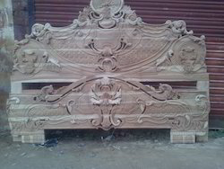 Double Bed Carving