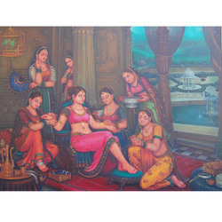 Rajwada Ladies Painting
