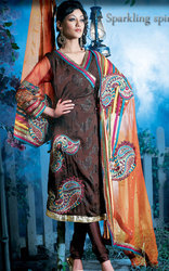 Embroidered Cotton Punjabi Suit