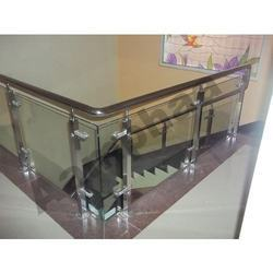Stainless Steel Handrail With Glass Models