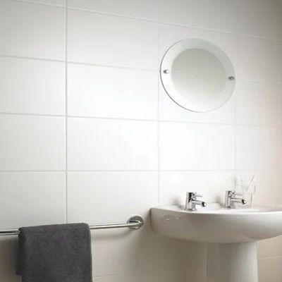White Ceramic Wall Tiles Bathroom Mosaic Tile For Shower