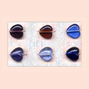 Heart Shaped Glass Beads