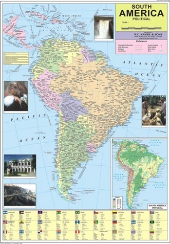 Wall Maps Political India Political Of Map Manufacturer From New - North america map in gujarati