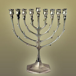 Pewter Menorah