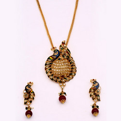 Designer Peacock Style Antique Pendant Sets