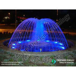 Dome Fountain With Colour Changing Effect