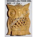 Wooden Jali Took Owl