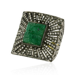 Vintage Style Emerald Gemstone Ring