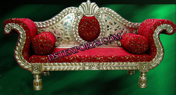 Asian Wedding Silver Metal Love Seater