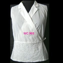 Chikan Waistcoat With Embroidery