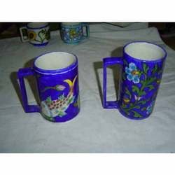 Blue Pottery Mugs