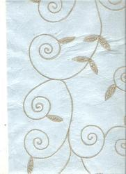 Embroidered Handmade Papers