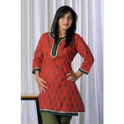 Designer Red & Green Kurta