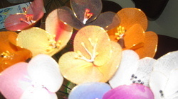 Artificial Organdi Flowers