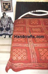King Size Designer Embroidered Bedspread