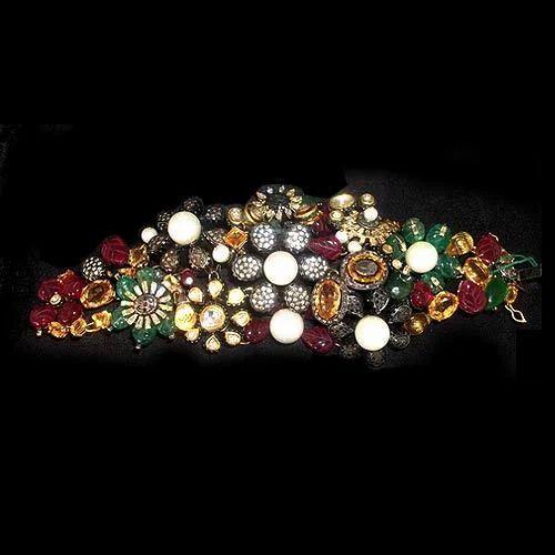 Diamond Bracelets Colored Stone Diamond Bracelet