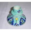 Blue Pottery Candle Stand
