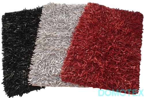 Shaggy Rugs Exporters India Attractive Leather Noodle
