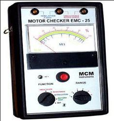 analog insulation tester motor checker emc 25 emc 25 is a portable
