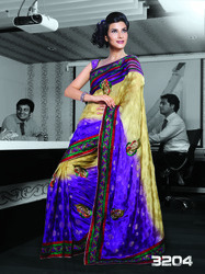 Unstitched Indian Sarees