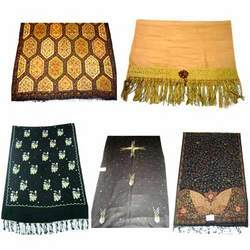 Silk Pashmina Shawls, Stoles and Scarves