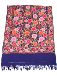 Kashmiri Embroidered Woolen Shawl