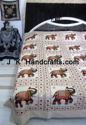 Indian Motif Handcraft Ethnic Beddings Bedsheets