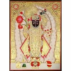 Shrinathji Paint With Gold Work Frame