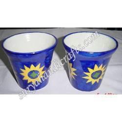 Blue Pottery Glass