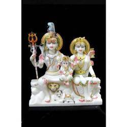White Shiv Parvati Murti