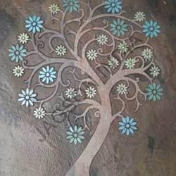 Stone Mural Tree