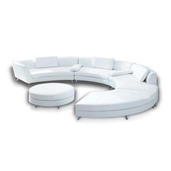 Circle Leather Sofa Set