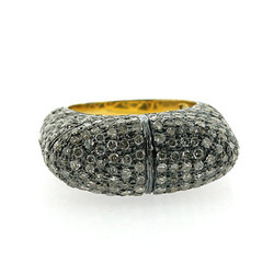 Pave Diamond Precious Rings