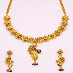 One Gram Gold Forming Designer Necklace Sets