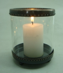 Votive Holder With Bronze Finish