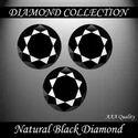 3 Carat Lot of 3 Certified Black Diamond Solitaires