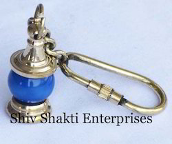 Blue Lamp Key Ring