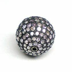 Diamond Pave Beads