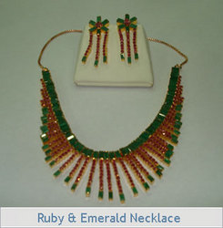 Ruby & Emerald Necklace