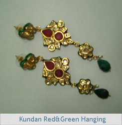 Kundan Red & Green Hanging