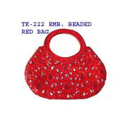 Embroidered Beaded Bag